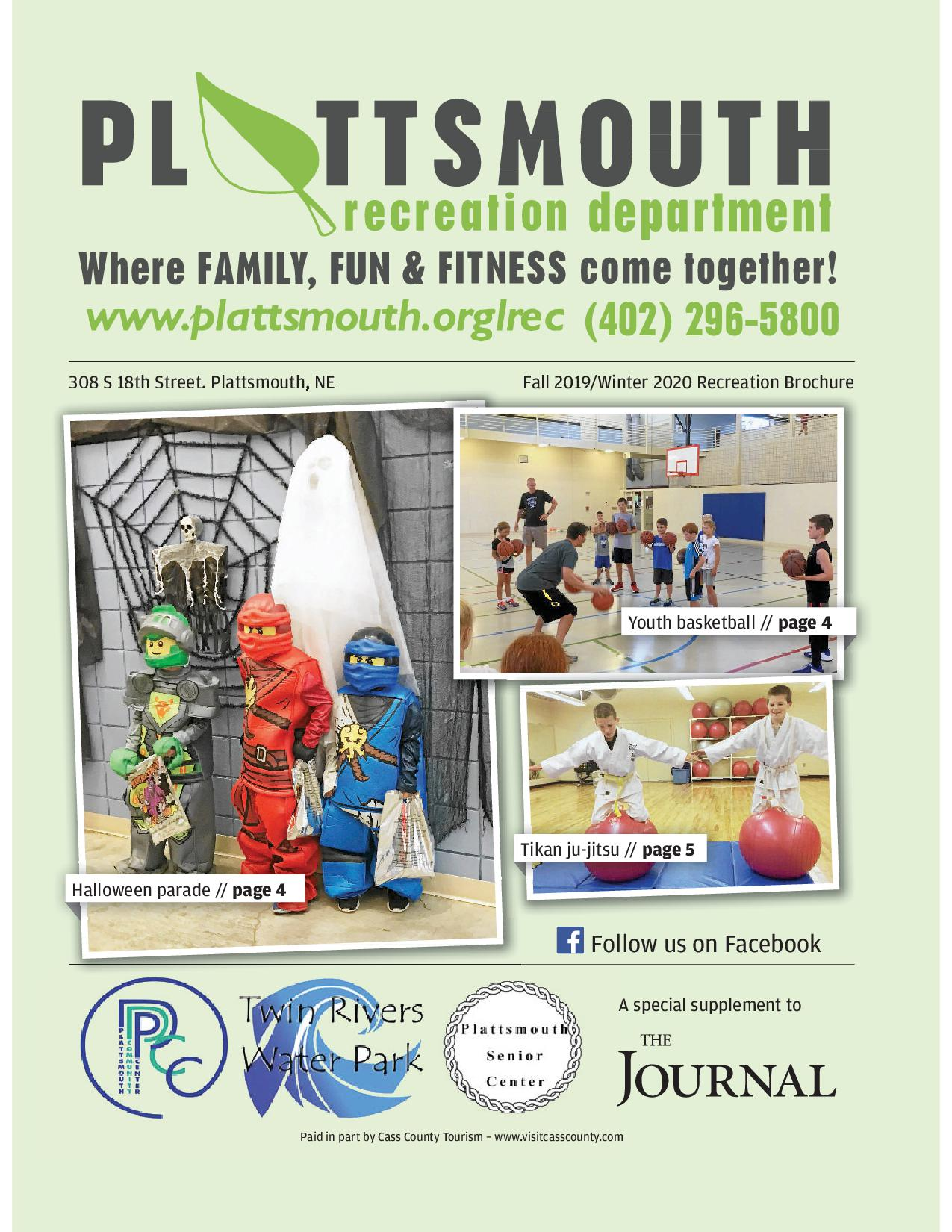 Spring 2019 Plattsmouth Rec Brochure Page 1